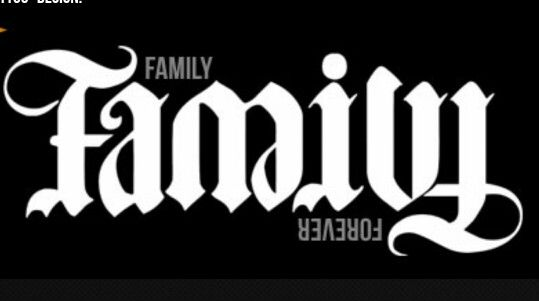 "#Jan 7th...""Upside down""...Family/forever ambigram 