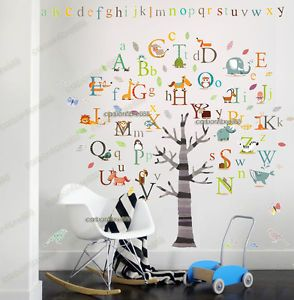 Huge Alphabet ABC Tree Wall Stickers Art Decal Educational Kids Learning  Nursery In Home, Furniture U0026 DIY, Home Decor, Wall Decals U0026 Stickers