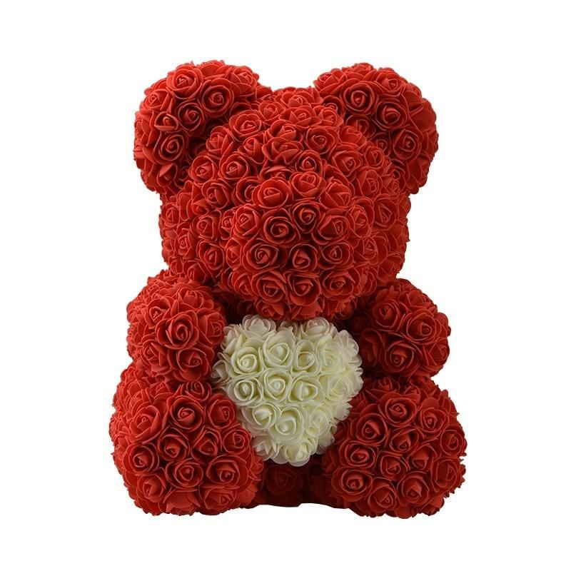2021 Hot Sale Dog Panda Unicorn Teddy Bear Rose Soap Foam Flower Artificial Toy Birthday Valentines Christmas Gifts for Women 1. It features exquisite workmanship and is non-fading. 2. It is a styrofoam panda, dog, rabbit, ucniorn, bear doll covered with roses, the gift box is not included. 3. The rose symbolizes love, beauty, radiant, bravery and nobleness. 4. Best gift: It is a beautiful gifts for Christmas, anniversary, birthday, wedding, Valentine's Day or for any occasions. 5. It can also b