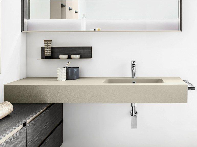 Lavabo rettangolare sospeso con porta asciugamani 5 zero - Mobili porta asciugamani bagno ...