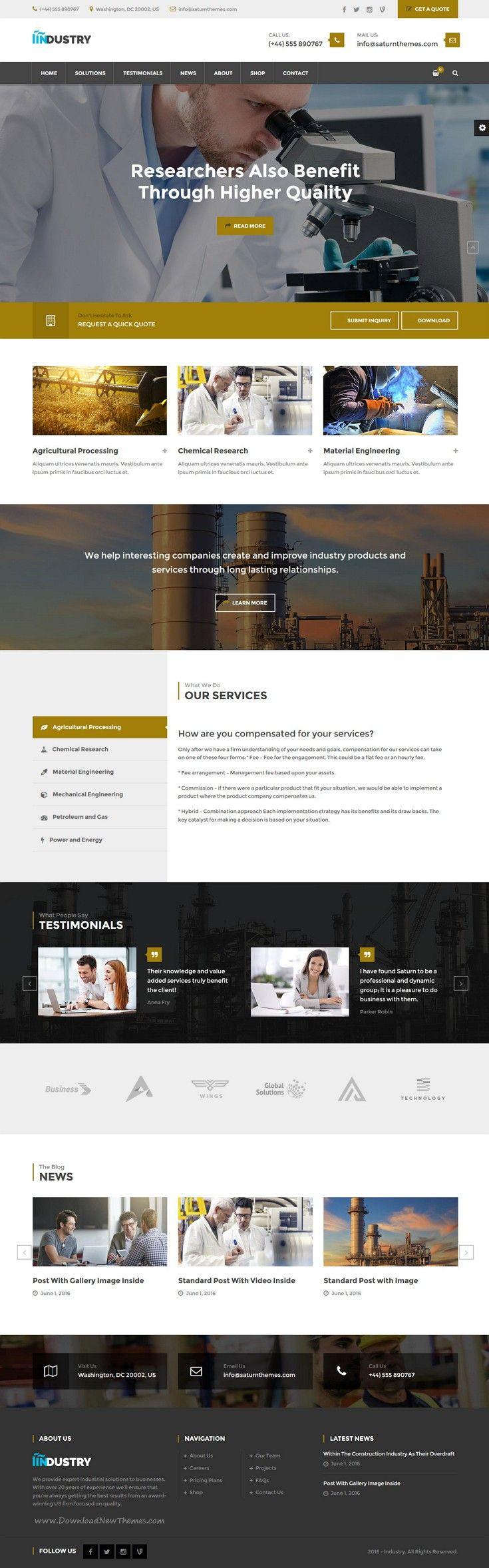 7factory Industrial Manufacturing Psd Template Web Layout Design Web Design Website Design Inspiration