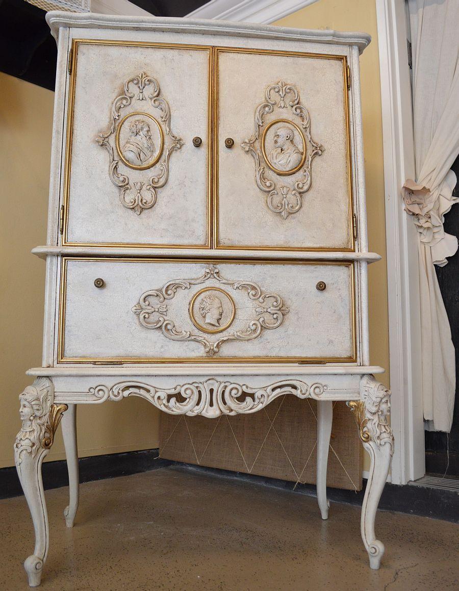 Furniture painting technique  crackle   antique gold   Furniture We ve  Painted   Alchemy Fine Living. furniture painting technique  crackle  stain  gold accents