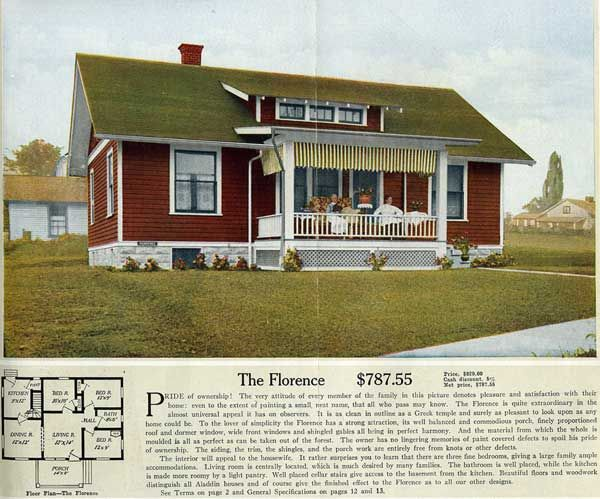 The Florence ALADDIN HOUSE PLANS FOR 1916