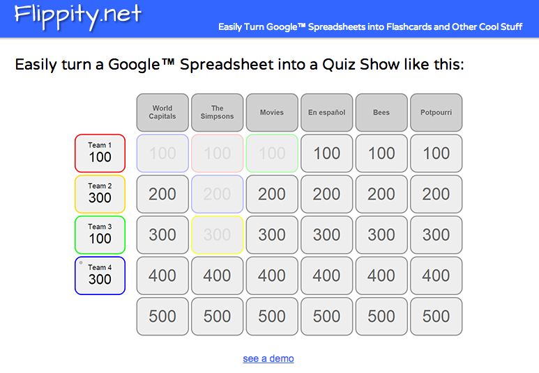 How to Create a Jeopardy Game in Google Sheets - Best of 2015-16 ...