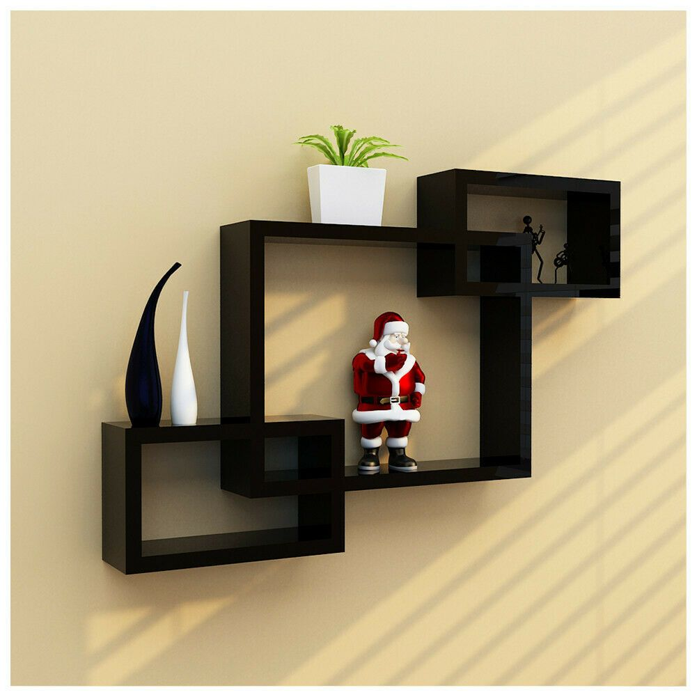 Decorative 3 Cube Intersecting Wall Mounted Floating Shelves