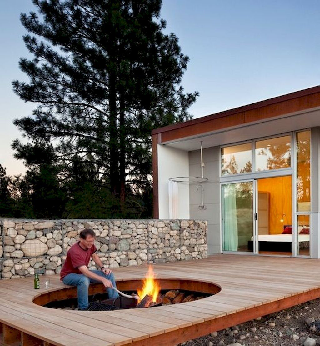 21 Landscaping Ideas For Slopes: Round Fire Pit Perfect Designs For Gathering