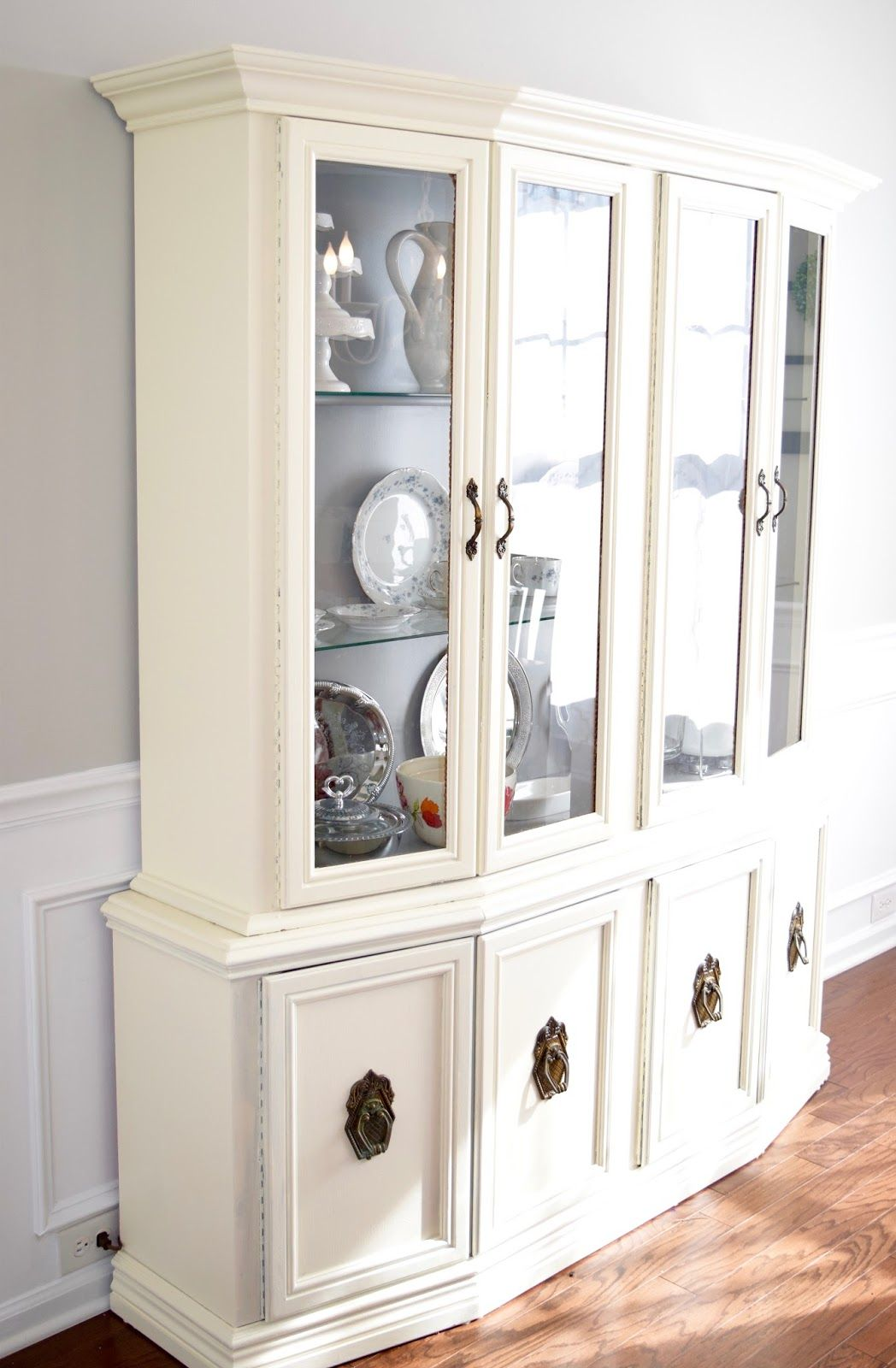 Annie Sloan Color Matched To Behr Dining Hutch Makeover Thriftier China Cabinet Painted Gray RoomsHutch