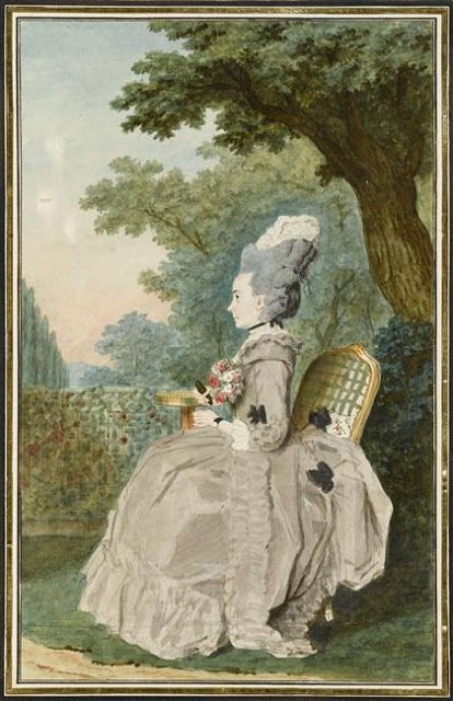 Madame de Boissandre, c. 1780's by Louis Caroggis Carmontelle (1717-1806)