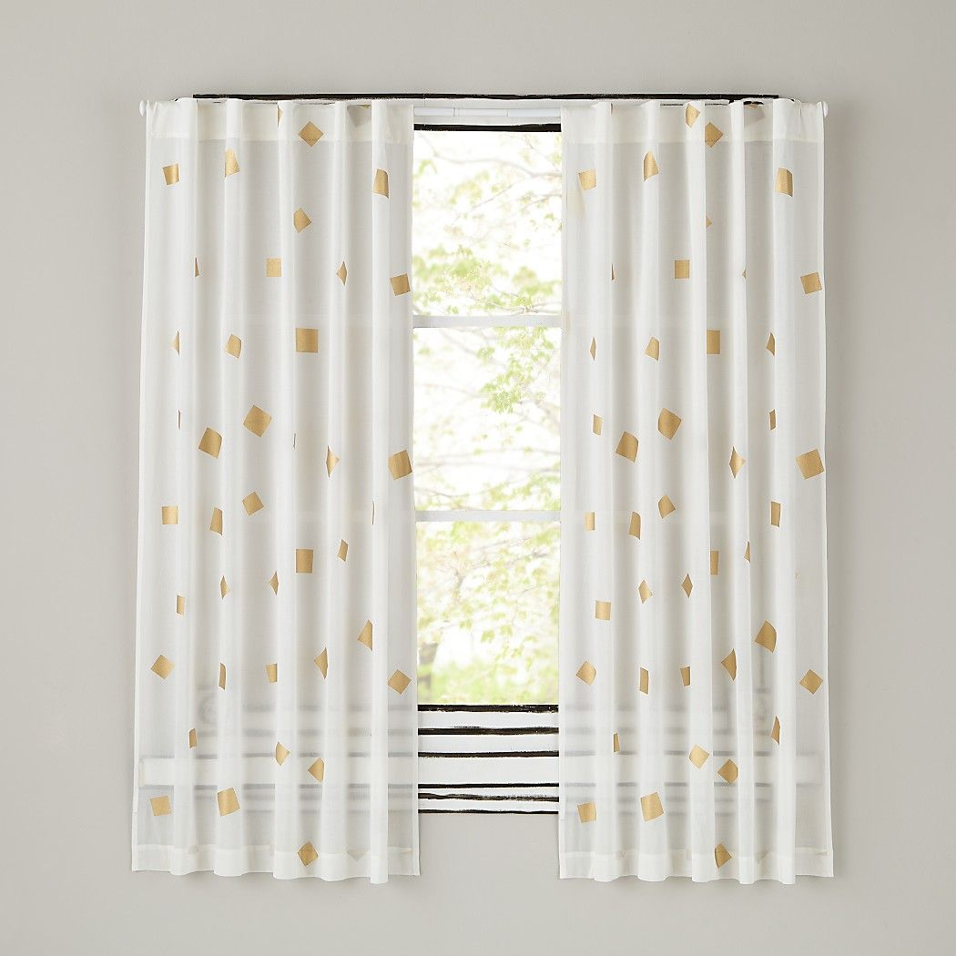 Gold Confetti Curtains Crate And Barrel Gold And White