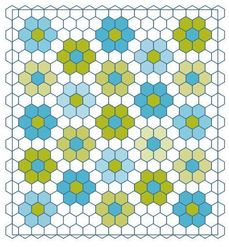 No Fuss Grandmother's Flower Garden Quilt   Grandmothers, Flower ... : hexagon patterns for quilts - Adamdwight.com