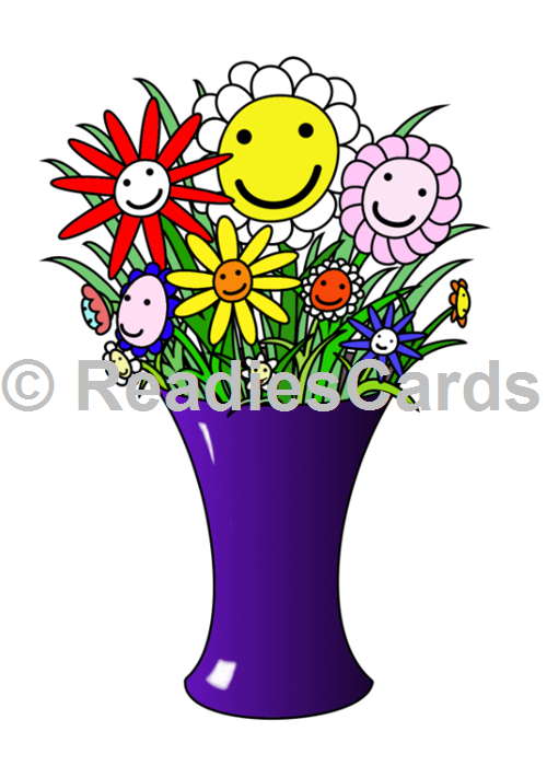 Readiescards Happy Flower Vase By Me Products I Love Pinterest