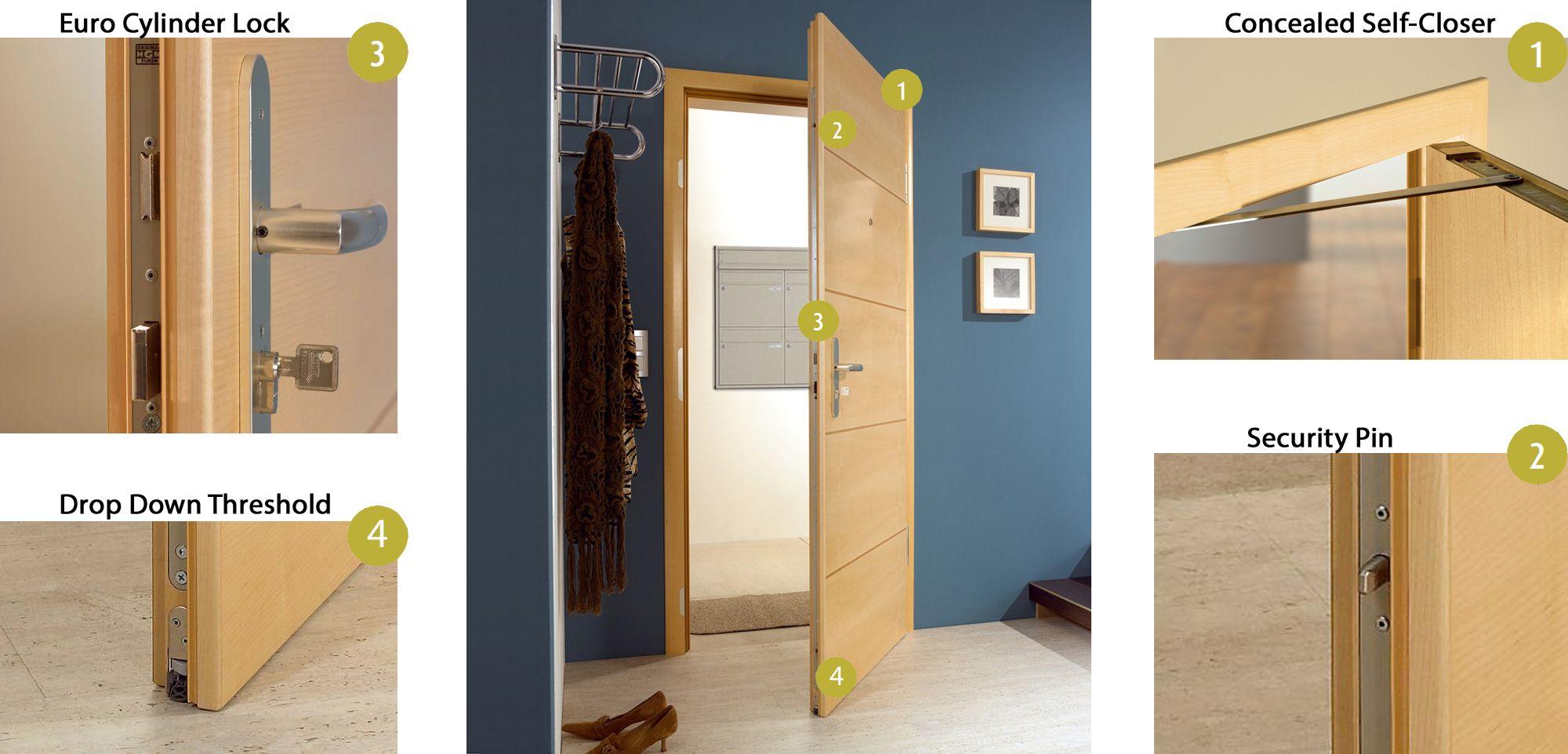 Internal Security Doors Secure Front Doors For Flats in