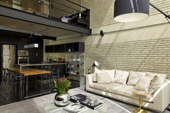 Dicas para um toque masculino na decora o praticidade for Appartamento design industriale
