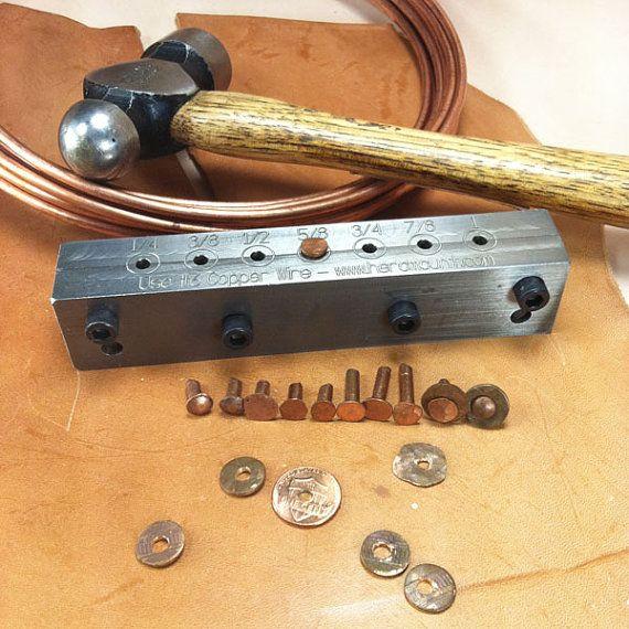 Copper Rivet Making Tool 6 Gauge Wire 9 Rivets