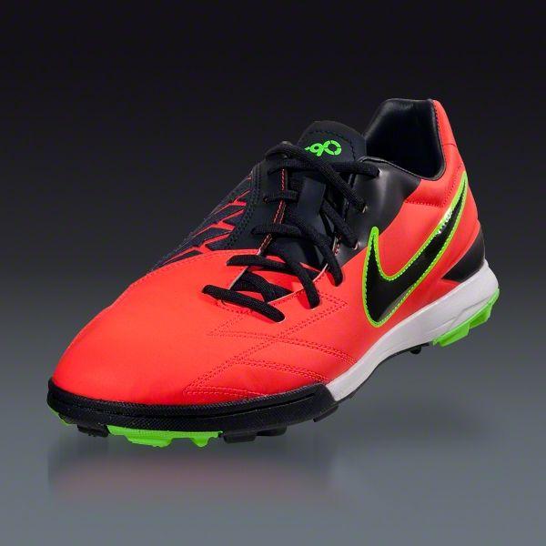 Nike T90 Shoot IV TF - Bright Crimson/Dark Obsidian/Electric Green Turf  Soccer