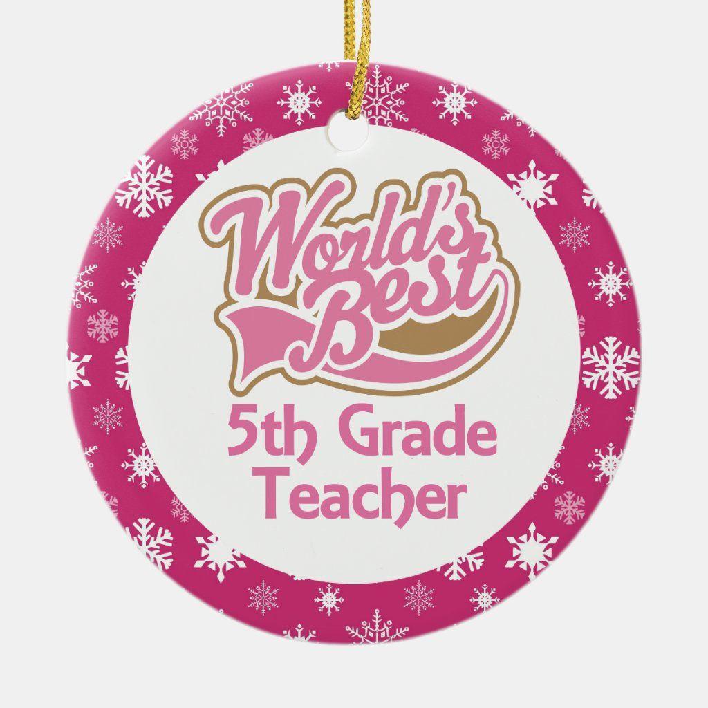 5th Grade Teacher Ornament