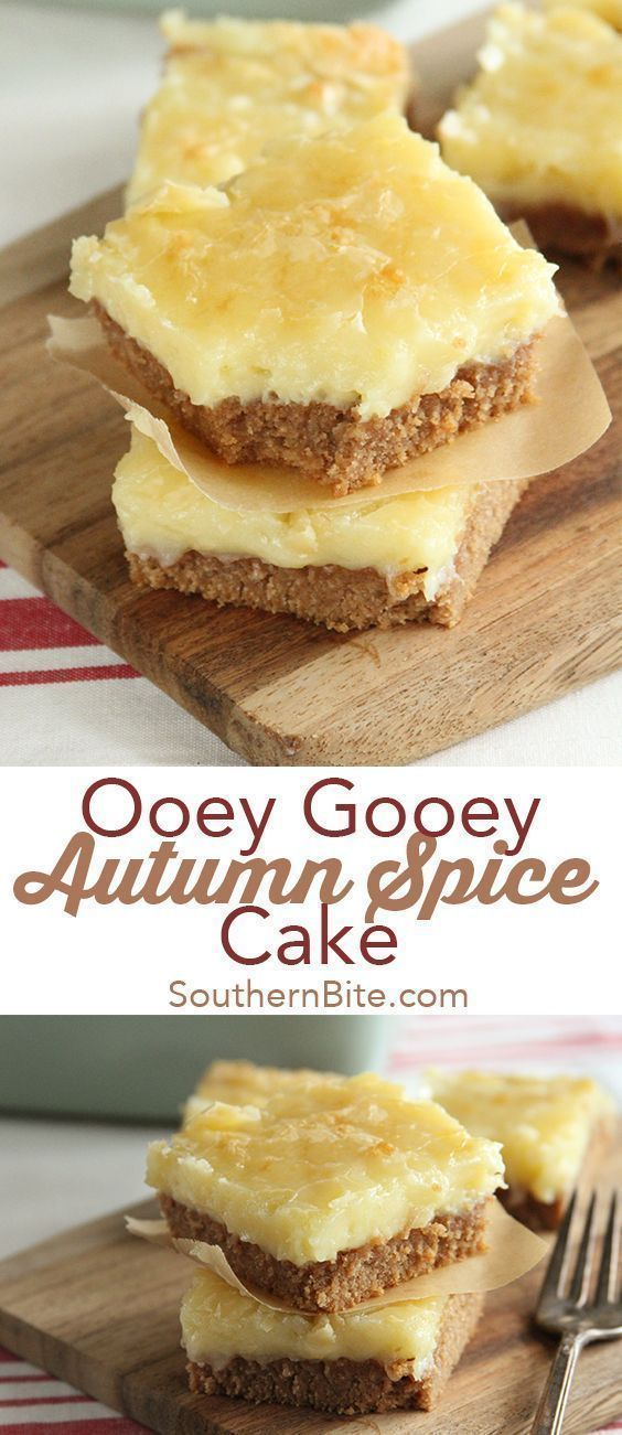 Ooey Gooey Autumn Spice Cake - Southern Bite
