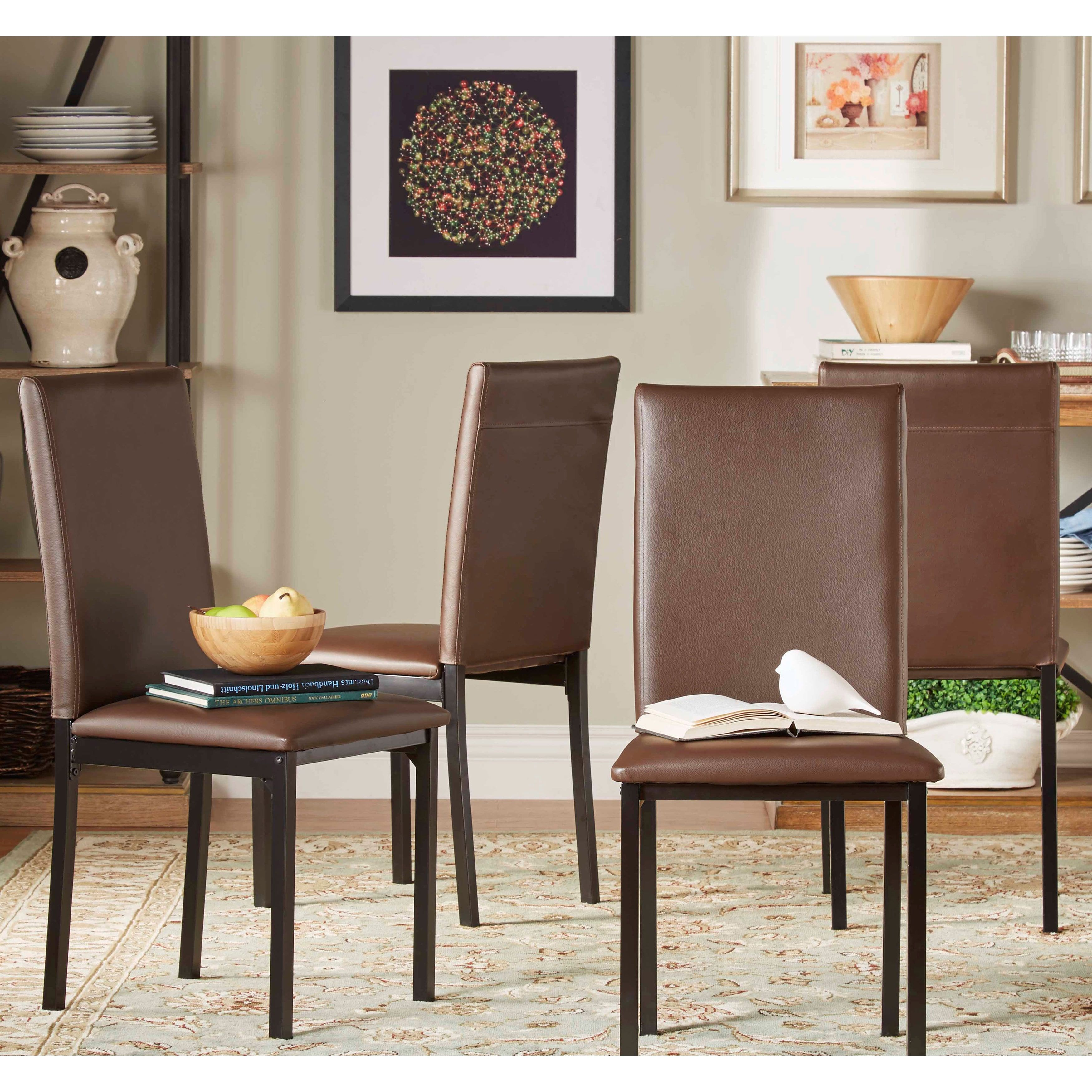 Darcy Metal Upholstered Dining Chair (Set of 4) by iNSPIRE Q Bold (Grey)