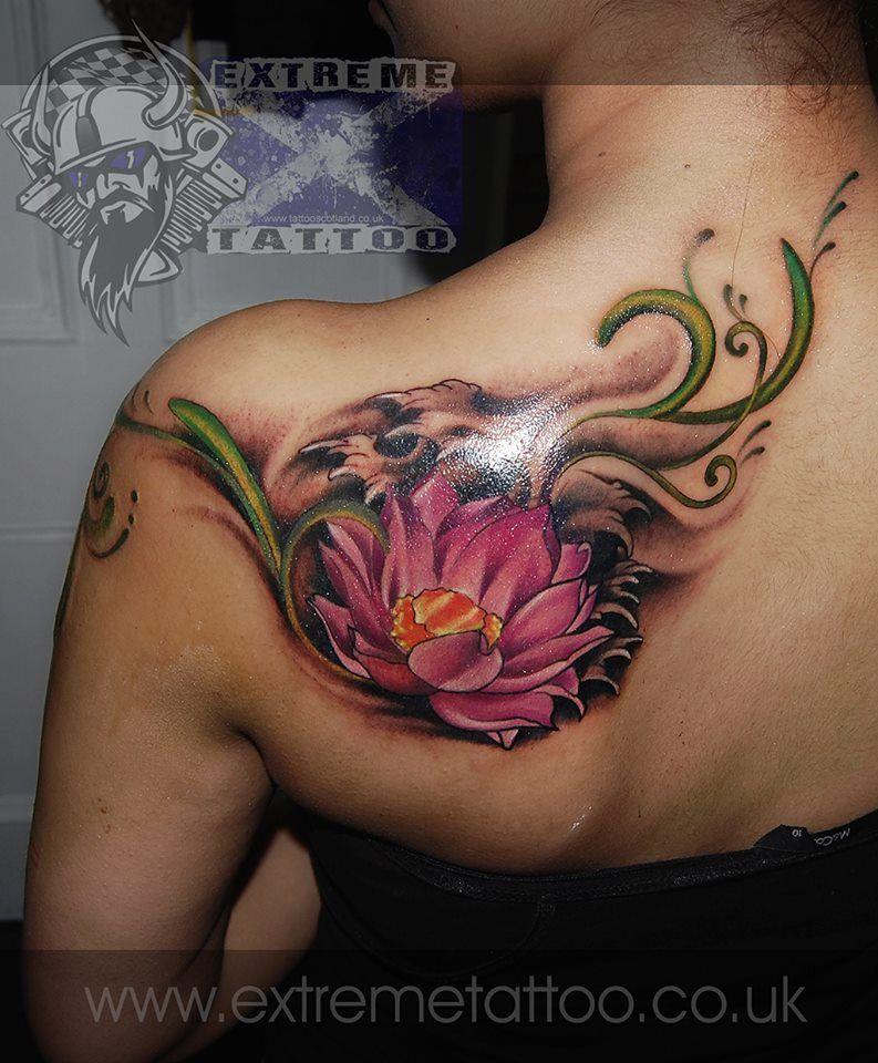 Lotus Flower Tattoo Custom Tattoo Gabi Tomescu Extreme Tattoo Piercing Fort William Highland Realistic Tattoo Black An Tattoos Celtic Tattoos Buddhist Tattoo