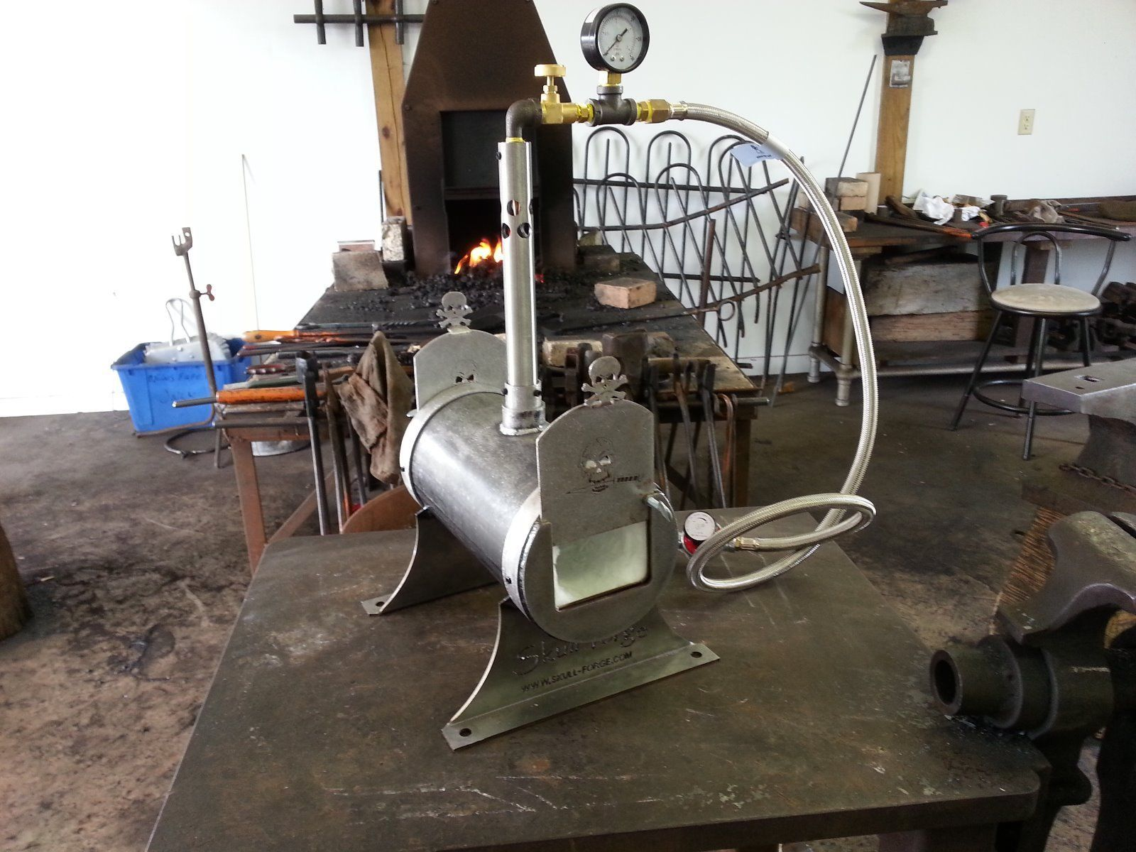 Single Burner Blacksmith Knife Maker Bladesmith Gas Forge
