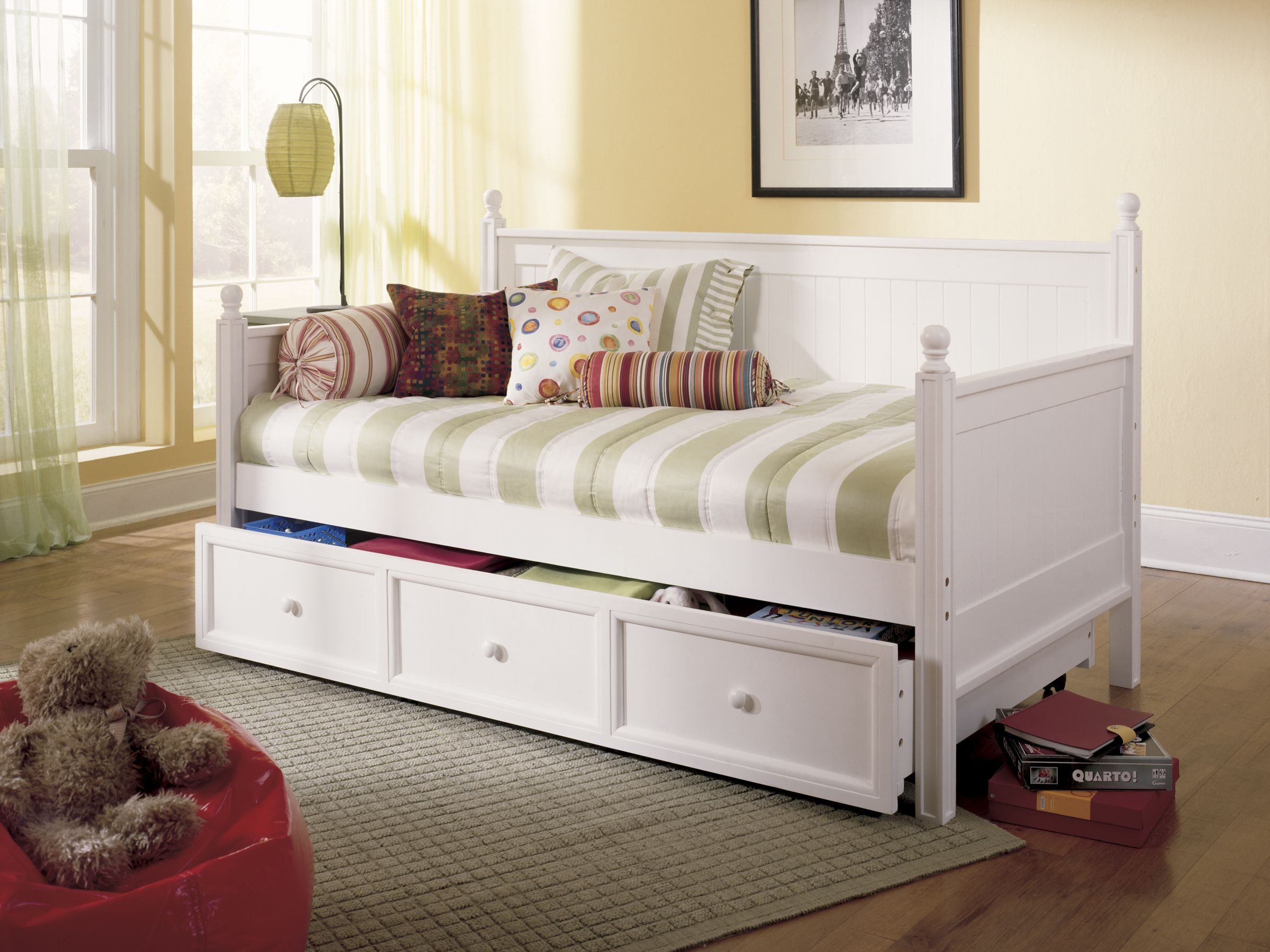 White trundle bed for girls - Casey Twin Trundle Daybed By Fashion Bed Group White Daybedbedroom Ideas Girls
