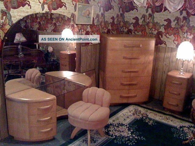 Vintage Heywood Wakefield Niagara Bedroom Designed By Leo Jiranek 1941 - 1942 1900-1950 photo