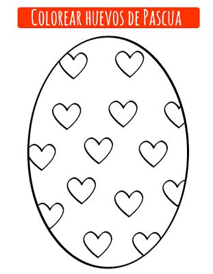 Dibujos de huevo de Pascua para imprimir y colorear | Ideas y ...