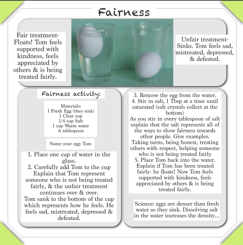 Floating Egg Experiment Worksheet