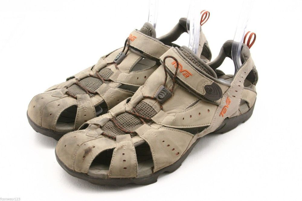 a75f7a334f6d TEVA womens sandals Size 9 DOZER yellow gray waterproof river water sport  shoes