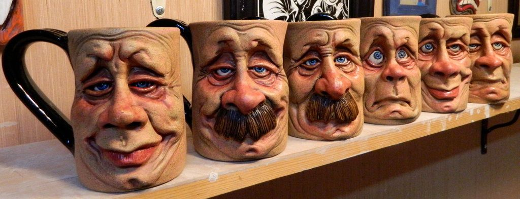 Face Mugs Group Photo- Complete by thebigduluth.deviantart.com on @deviantART