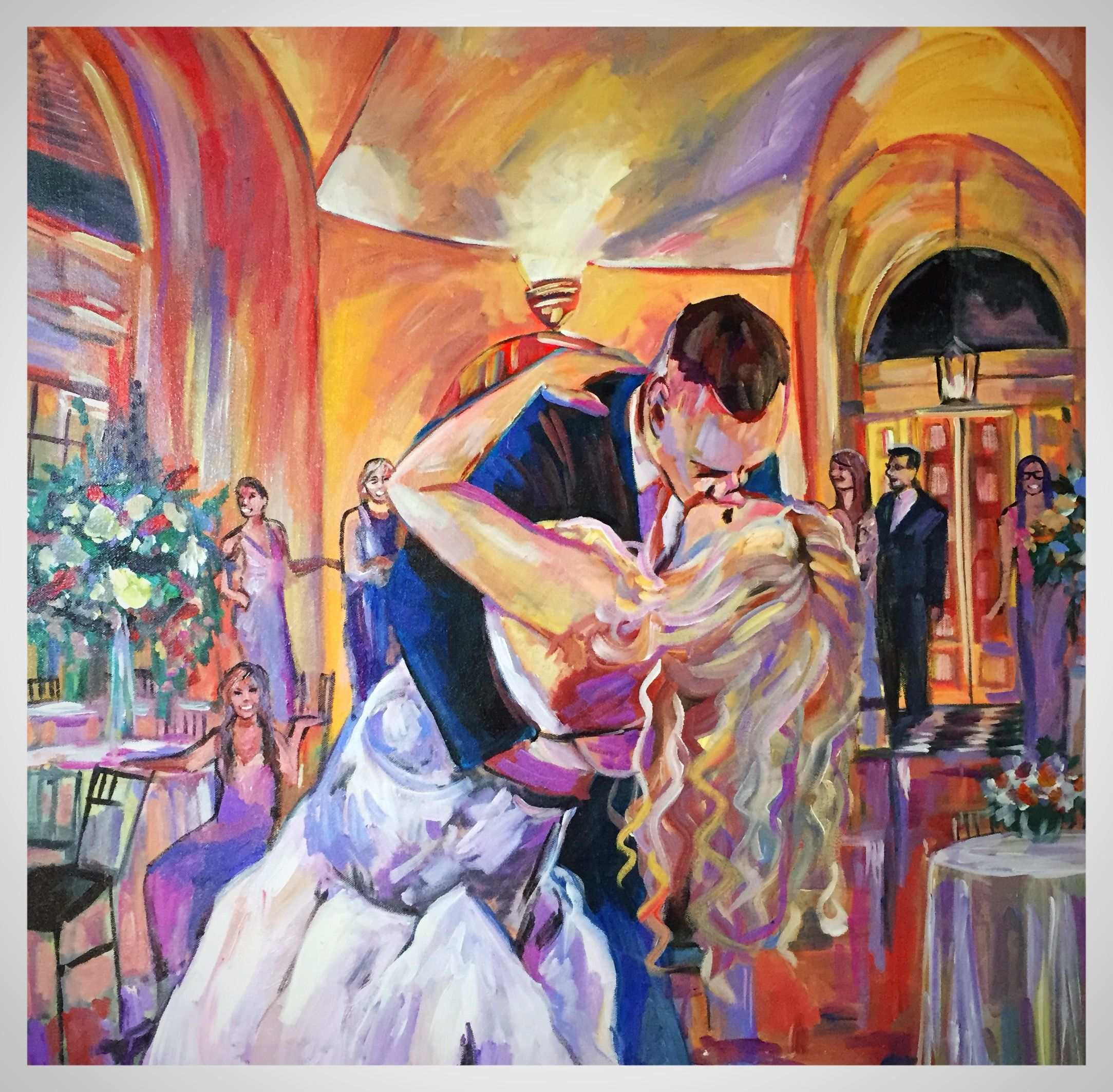 Christina Pion Owner Of Artistry Loves To Make Painting Personal She Paints Live Event Paintings Recreated Your Wedding Reception