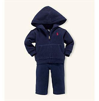 Ralph Lauren® Baby Boys' Navy Fleece Hook-Up