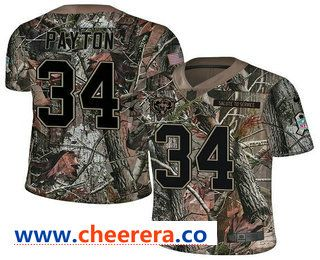 e58831c2 Men's Chicago Bears #34 Walter Payton Camo Stitched NFL Rush Realtree Nike  Limited Jersey