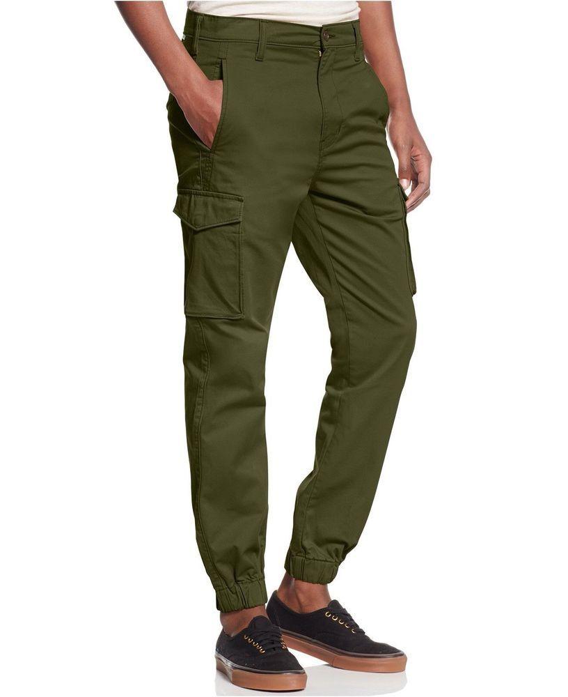 Levis banded cargo jogger chino pants green mens 36x30
