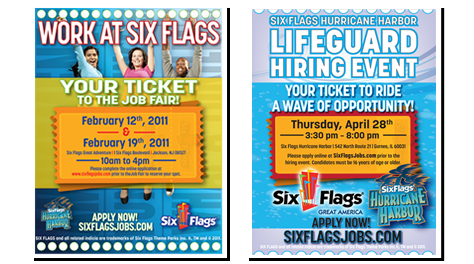 Six Flags Employment Ad Print Advertising Ad Print Advertising Advertising Ads
