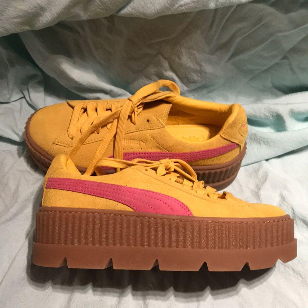 size 40 960ab eae8c Puma Shoes | Fenty Pumas By Rihanna | Color: Pink/Yellow ...