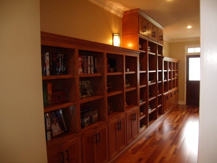 Beautiful hall bookcase created by Sanford Woodworks!