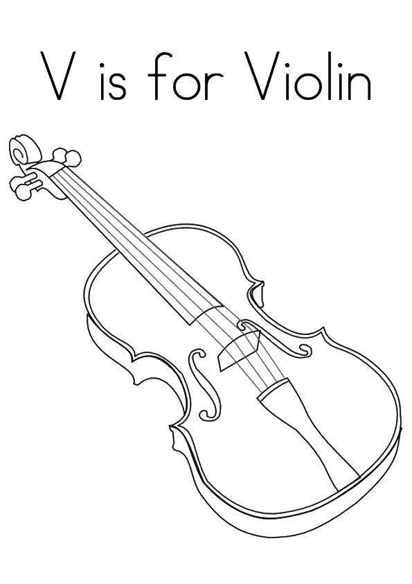 Top 10 Letter V Coloring Pages Your Toddler Will Love To Learn Color Violin Coloring Pages Letter V