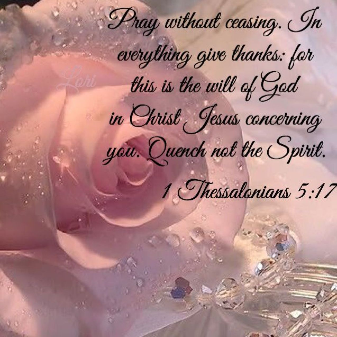 1 Thessalonians 5:17 Bible verse  Faithfully and