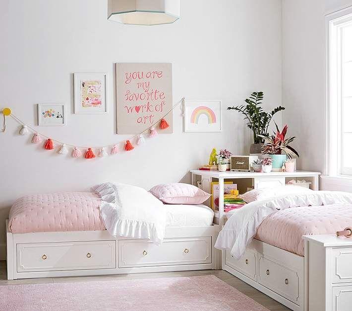 Do Not Use Ava Regency Set Of 2 Twin Beds Simply White Wb In 2020 Shared Girls Bedroom Shared Girls Room Girl Bedroom Decor
