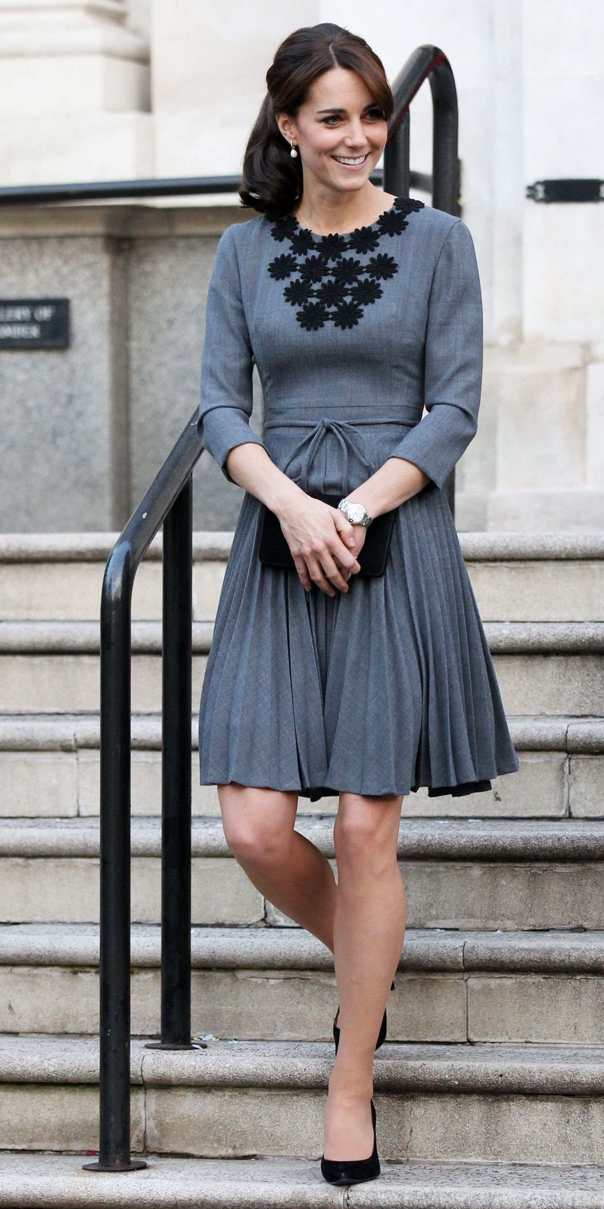 a29d562cf6334 Kate Middleton Is Gorgeous in Gray During Her Most Recent Royal Outing from  InStyle.com