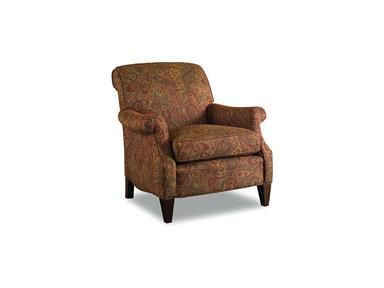 This club chair es standard with a blendown seat cushion and welt