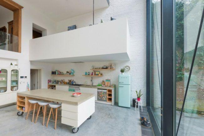 mobile kücheninsel weiss-theke-offen-design Küche Pinterest - kücheninsel mit theke