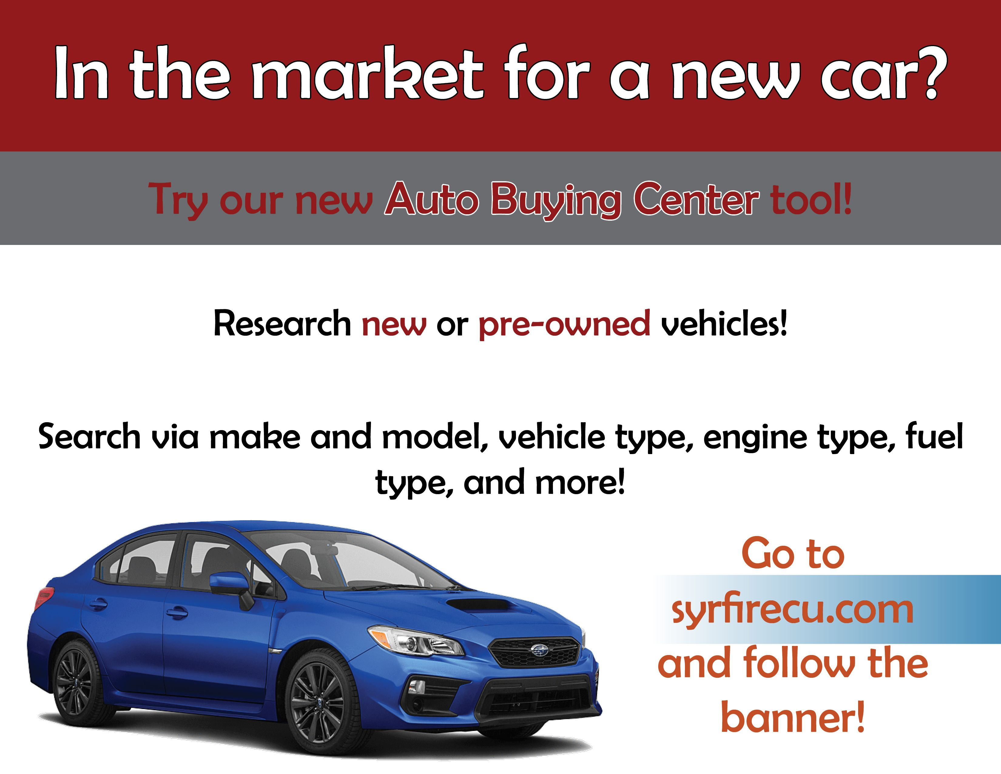 Visit our Auto Buying Center to find your next car today