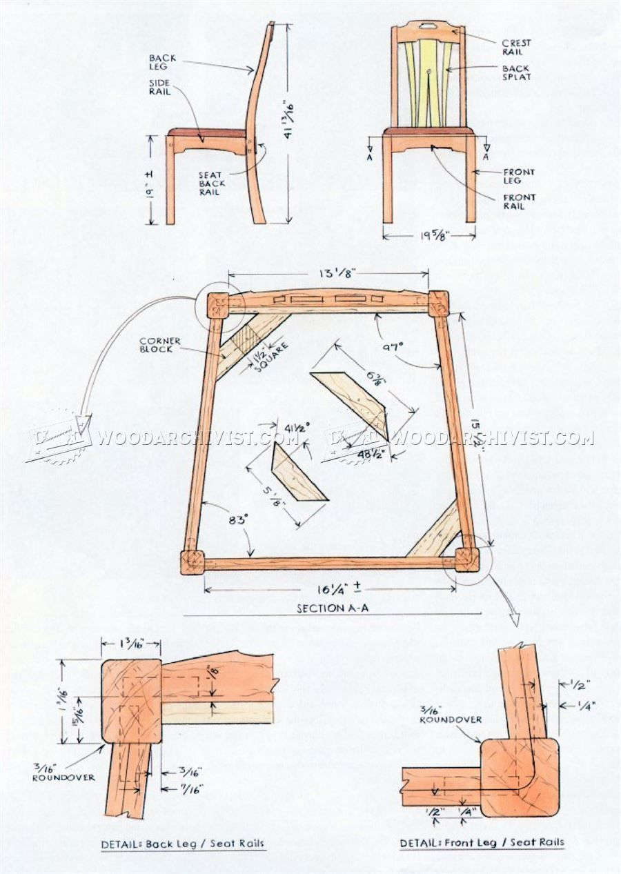 665 Dining Chair Plans Furniture Plans And Projects Chair