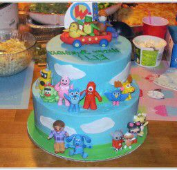 Swell Nick Jr Themed Multi Character Cake With Images Kids Cake Cake Funny Birthday Cards Online Alyptdamsfinfo