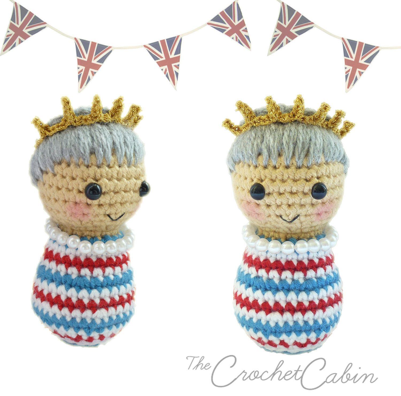 Queens diamond jubilee crochet doll uncinetto e maglia for Lavori all uncinetto per altari