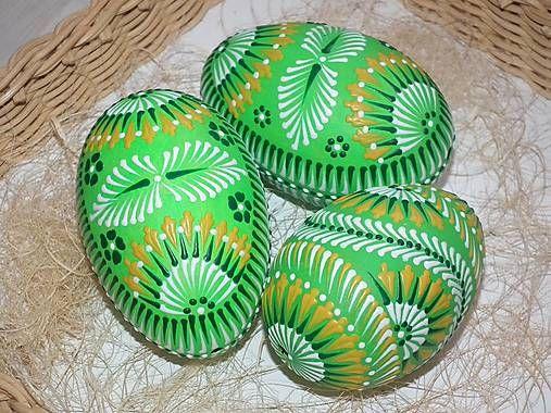 jarkakon / zelené maľované kraslice