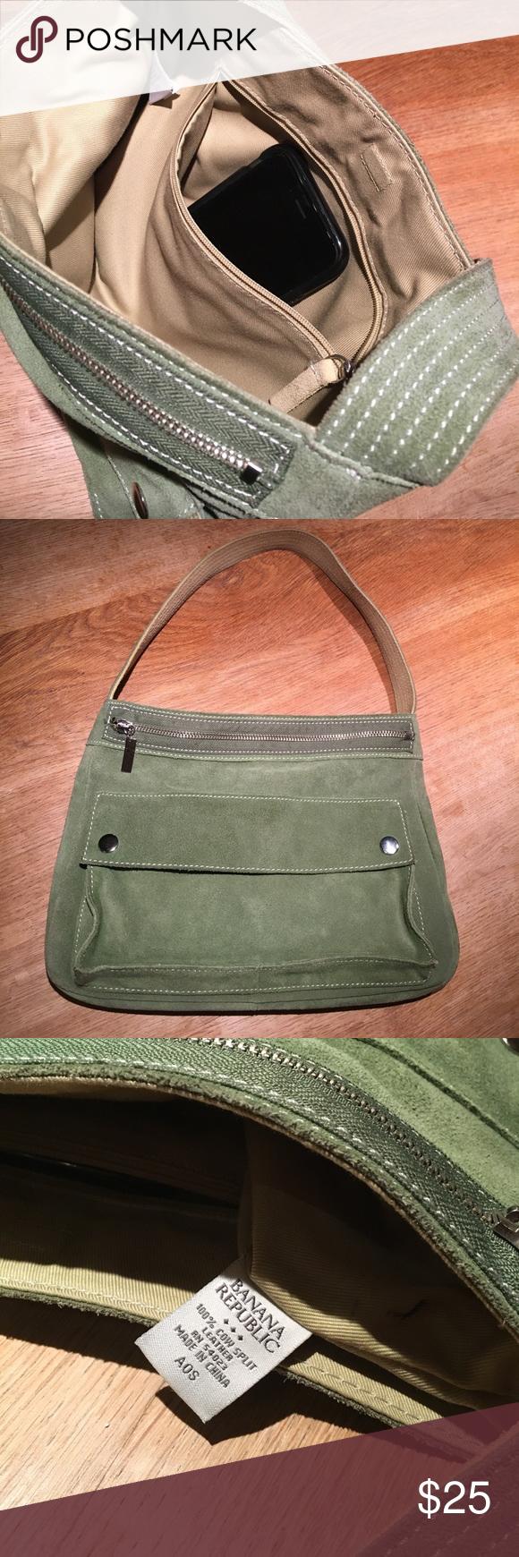 Banana republic handbag- 100% leather Pale green Banana Republic Bags  Shoulder Bags 870dd42917