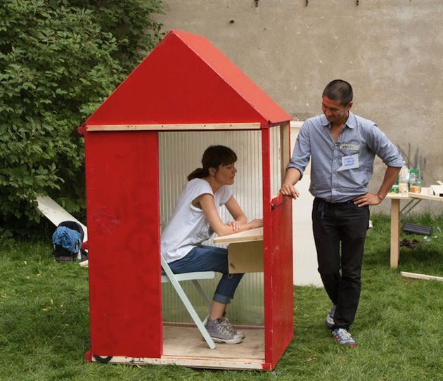 Simple Berlin based architect Van Bo Le Mentzel and founder of Hartz IV M bel has created ucOne Sqm House ud the smallest house in the world